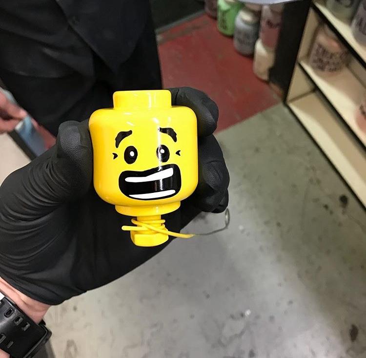 Custom Lego Head Knob