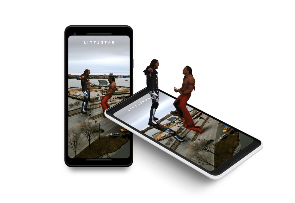 Use Cases:WWE AR camera on Littlstar mobile apps to promote Wrestlemania 34 -