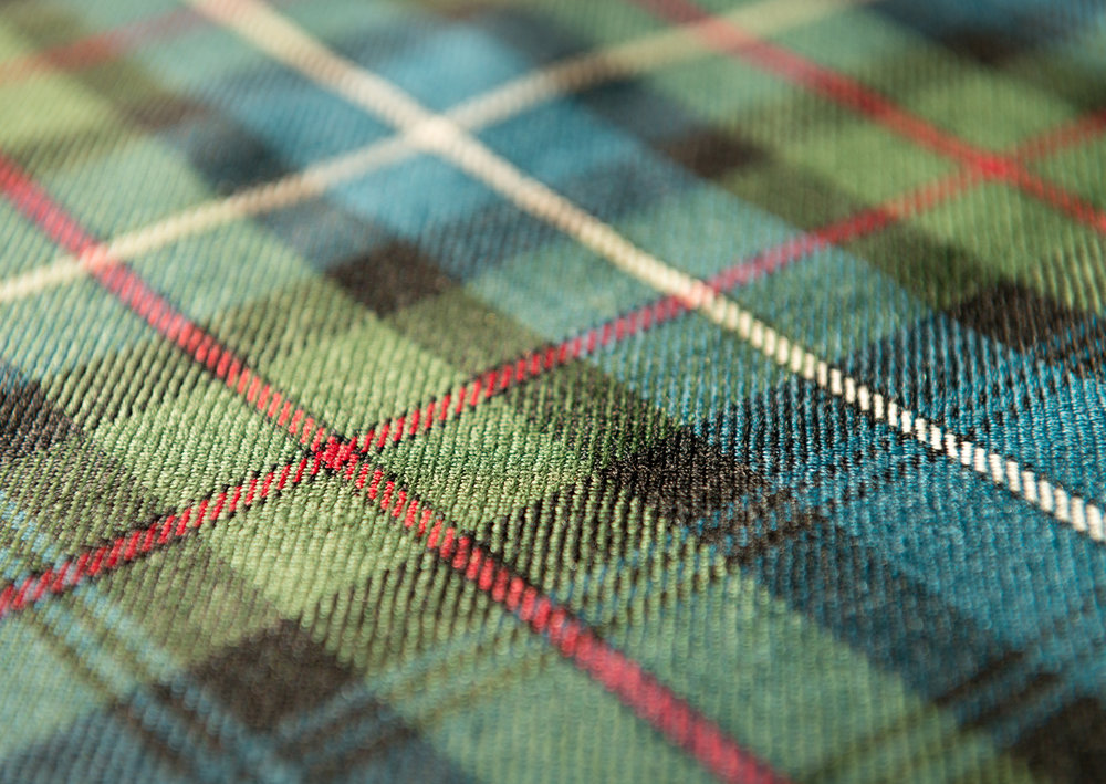 - Fleece (known for its wicking properties) - fully breathable, stretchable and rainproofFashion Tartan (Plaid) fabrics - rain proofNeoprene - waterproof'Harris Tweed'clothOriginal Clan Tartans