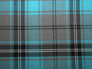 Teal and Grey Tartan