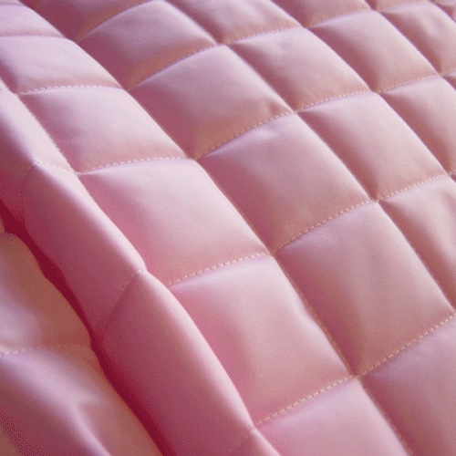 Baby Pink Quilted Waterproof