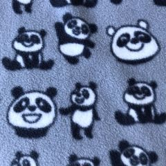Grey Panda Fleece