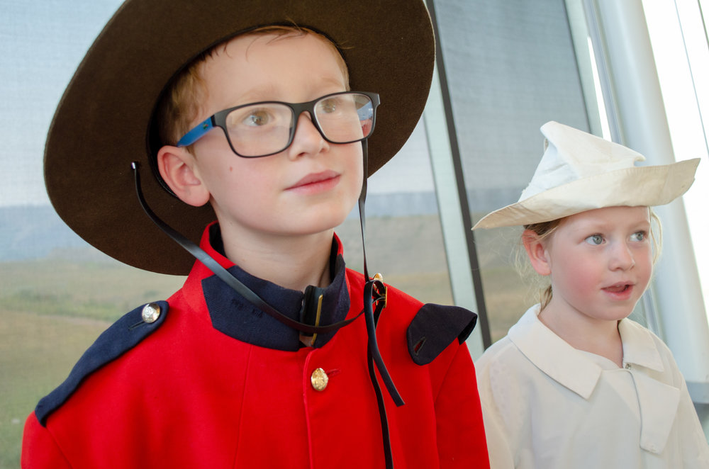 Student particpation - Sometimes a picture just isn't enough... using replica coustumes your students will help bring the great citizens of Lethbridge's past to life.