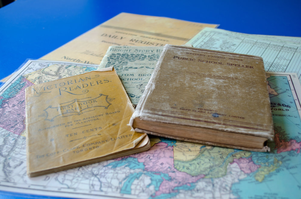 Original readers - Compare your classroom texts to a 1899 Victorian Reader, a pre 1925 Public School Spelling, and a circa 1918 copy of Tom Brown's School Days.