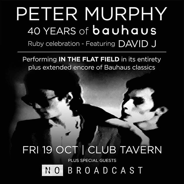 Excited to come out of hibernation and recording mode to support Peter Murphy of Bauhaus next week!  #bauhaus #petermurphy  @thirdeyemusicnz