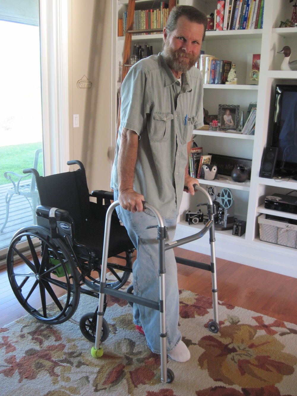 Working his way out of the wheelchair