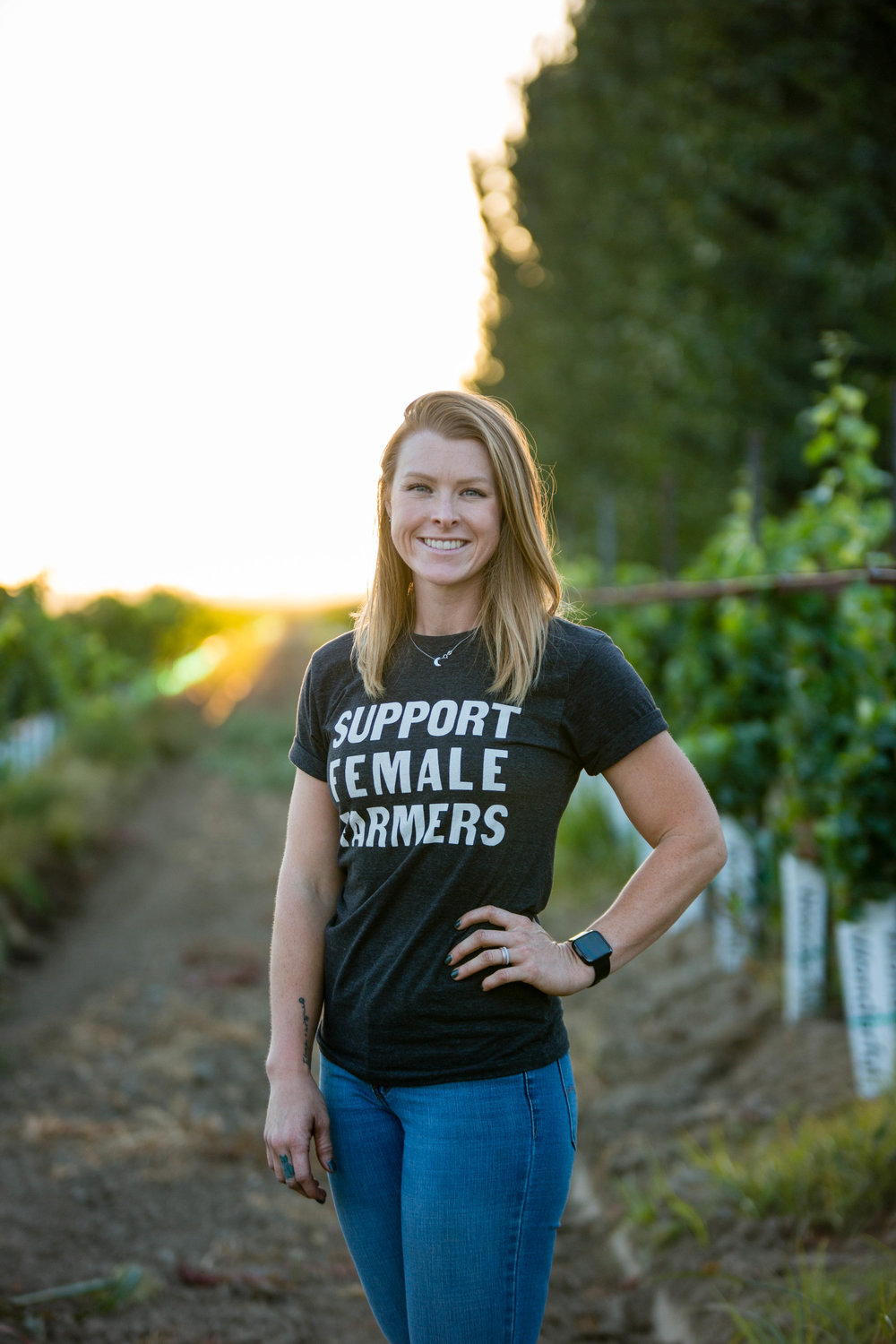 About Tara - - Hello! I'm Tara, a 27-year-old female farmer from Northern California. My family's background in farming is mainly grain crops, like corn and wheat, as well as running a land leveling business. I'm a 5th generation farmer. But I'm the first FarmHer, and I'm the first to have a vineyard.I moved home in 2015 to start working full time on the farm. I soon started working on developing my own operation. In 2017 I had solid plans to make my dream of Beaver Vineyards a reality. I planted 50 acres of Sauvignon Blanc in April of 2018 - 2 days after my wedding.I've learned that tomorrow isn't guaranteed, so live your life to the fullest today. I'm a Mental Health advocate just as much as I'm an AGvocate. I live in the middle of a pear orchard. I have 3 dogs, 3 cats, a few chickens, and an amazing husband that allows it.Thank you so much for checking out my blog and following my journey!-Tara