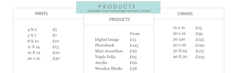 Baby pictures Clitheroe Lancashire price list for products, prints and canvas, Blackburn and Burnley baby photos