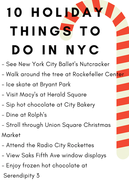 10 Holiday Things to do in NYC