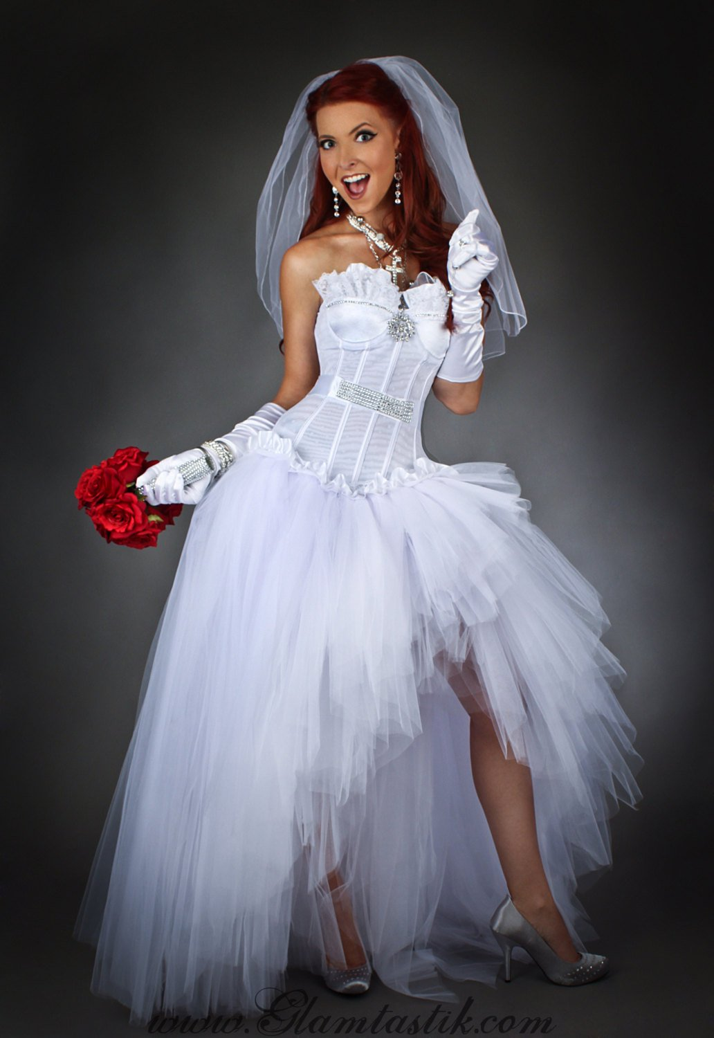 Size Medium White Madonna inspired wedding gown high low Ready to ...