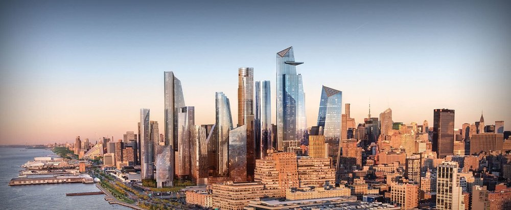 Rendering of a fully developed Hudson Yards. The blight and decay on 42nd Street was seen as a roadblock to the City's expansion west. Credit: Hudson Yards.