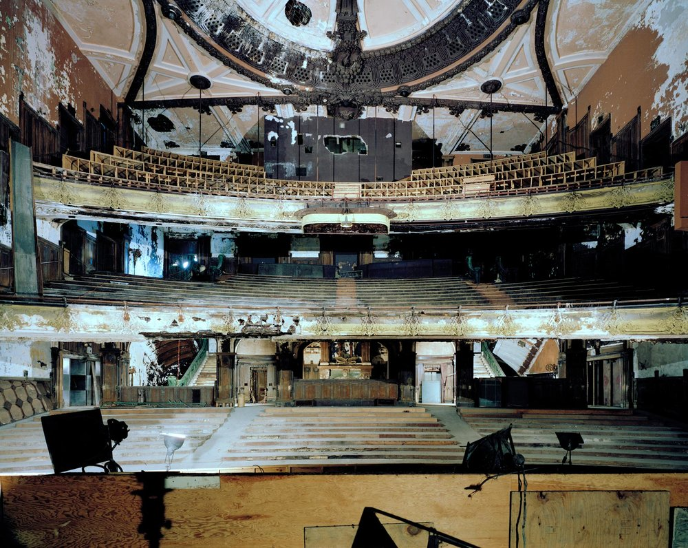Interior of the New Amsterdam Theatre, before renovations began. Credit: Whitney Cox