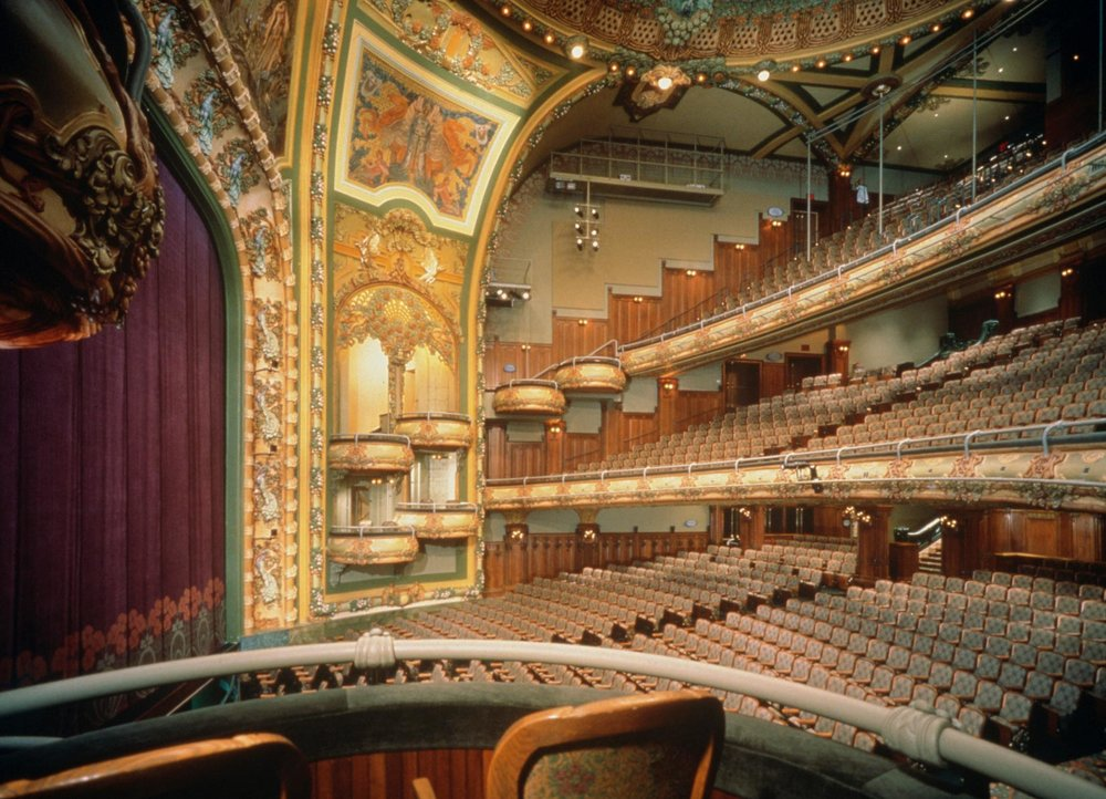 View from the box seats at the fully restored New Amsterdam Theatre. Credit: The Walt Disney Corporation