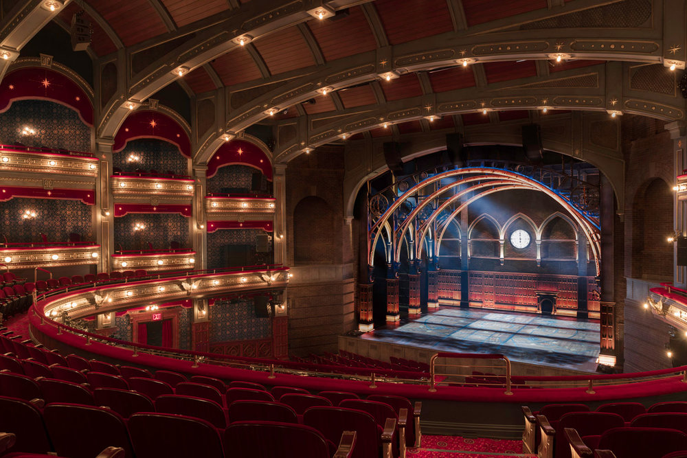 Interior of the fully renovated Lyric Theatre, which was created by combining the Apollo and Lyric Theatres. Credit: The Lyric Theatre and Manual Harlan