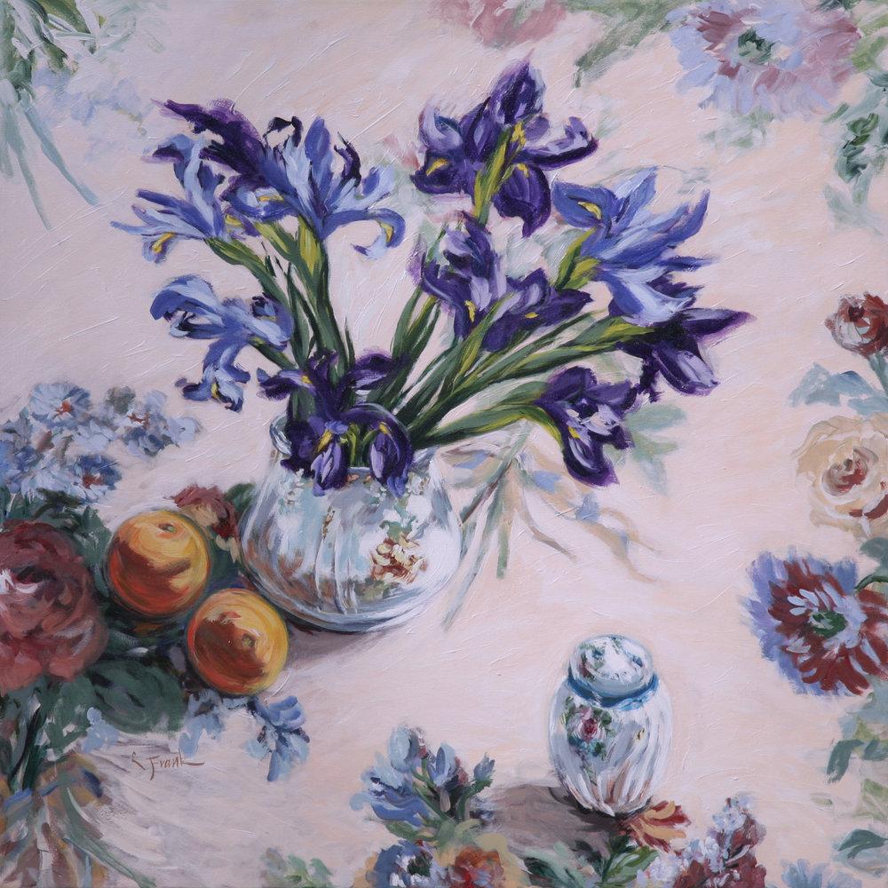 Irises & Oranges