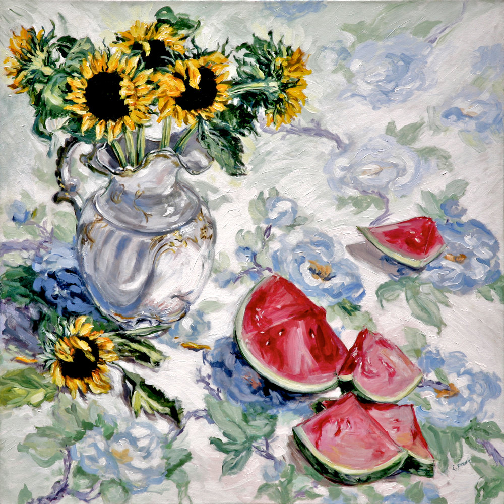 Sunflowers & Watermelon