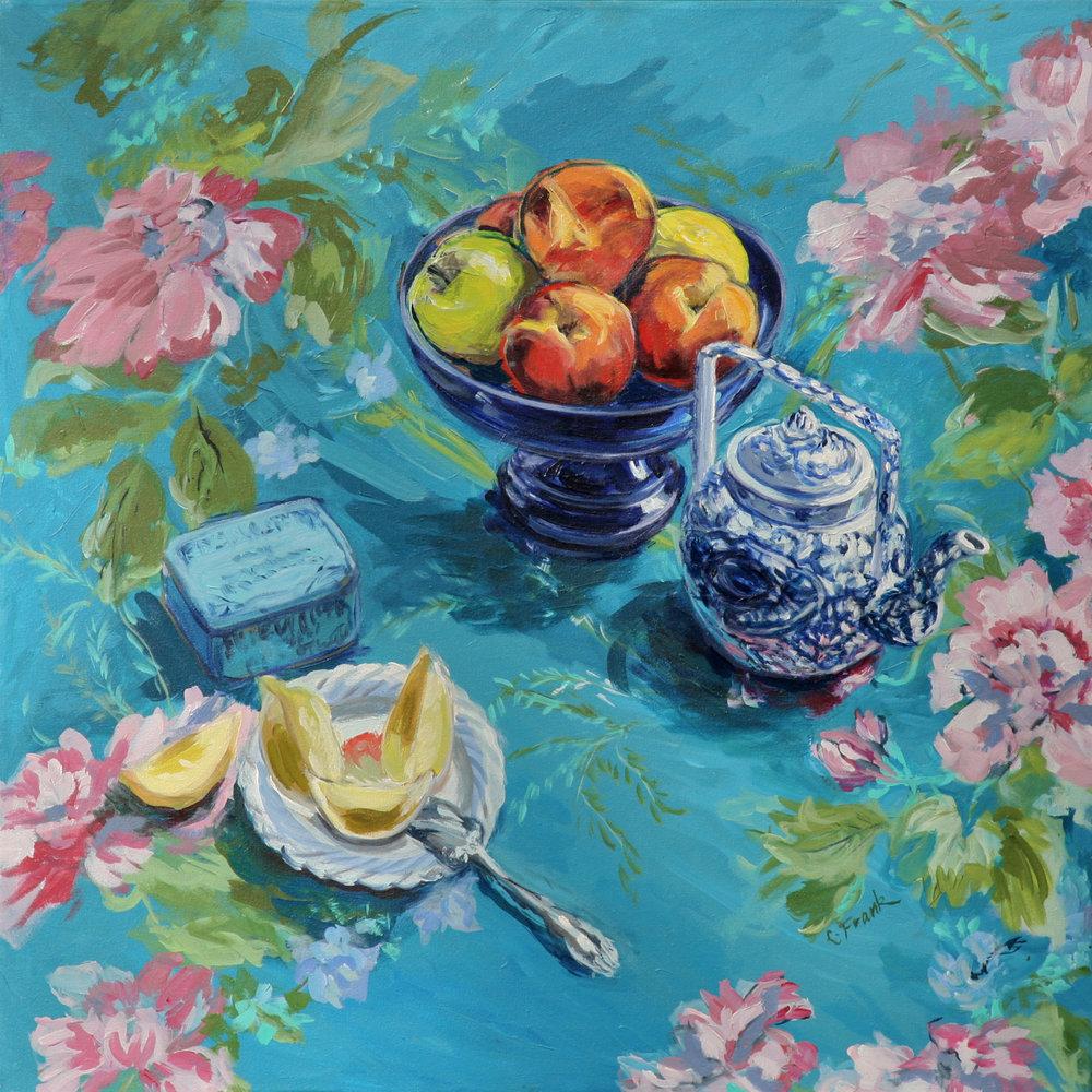Peaches & Chinese Teapot