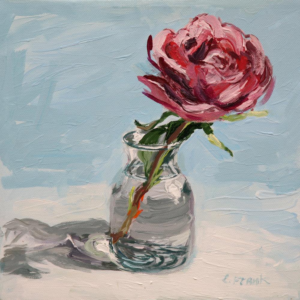 Rose Study (Blue)