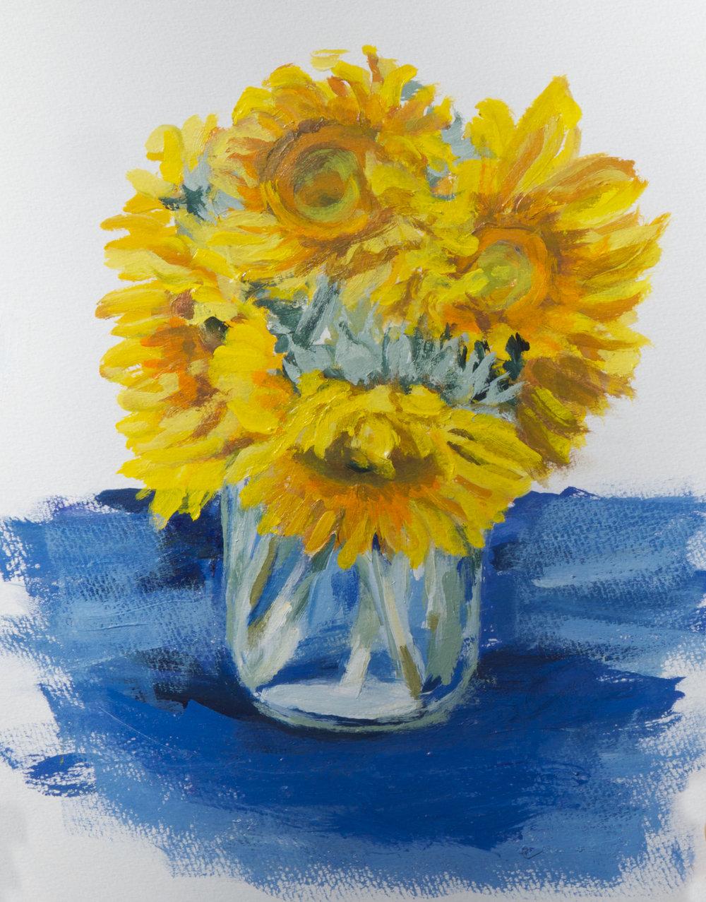 Sunflowers in Jar