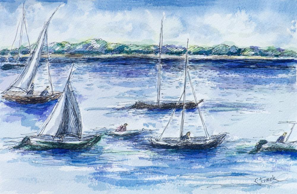 Boats Heading Back
