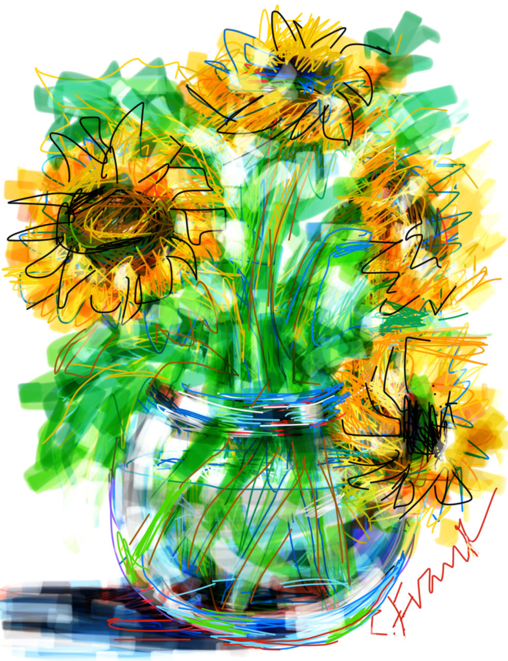 Sunflowers in Bowl