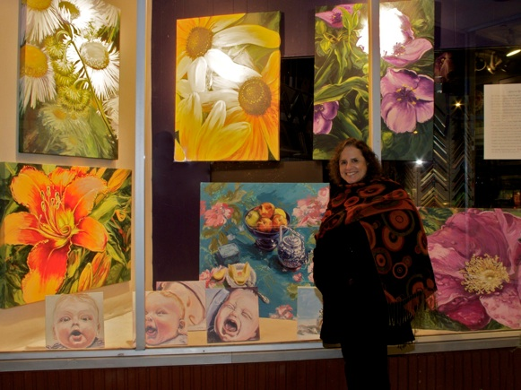 January 2012 - Leona's paintings and Dick's photographs are on display for the month of January in the window of Max's Art Supplies, in Westport, CT