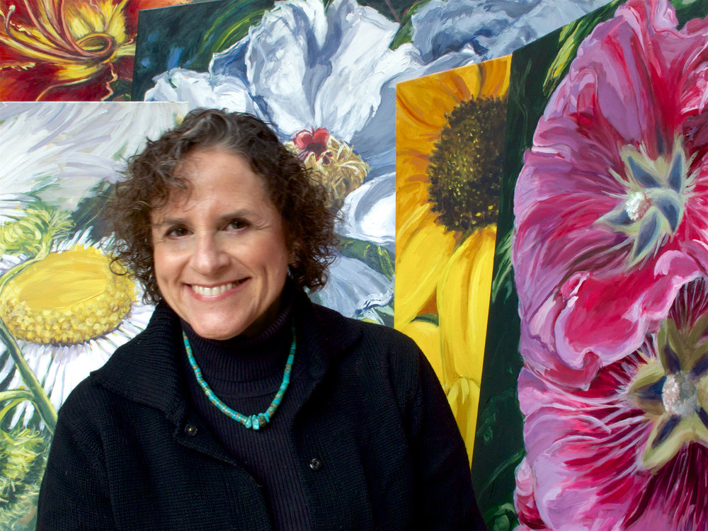 November 2012 - Five of Leona's Flowerscapes are acquired by Bridgeport Hospital (Yale New Haven Hospital) for placement in new oncology radiation facility in Trumbull, CT