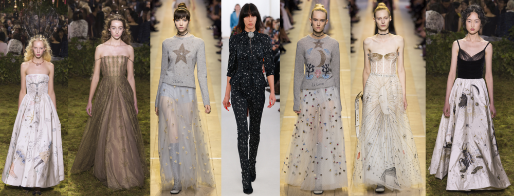 Left to Right: Dior Spring 17 Couture, Dior Spring 17 Couture, Dior RTW SS17, Balenciaga RTW SS17, Dior RTW SS17, Dior RTW SS17, Dior Spring 17 Couture