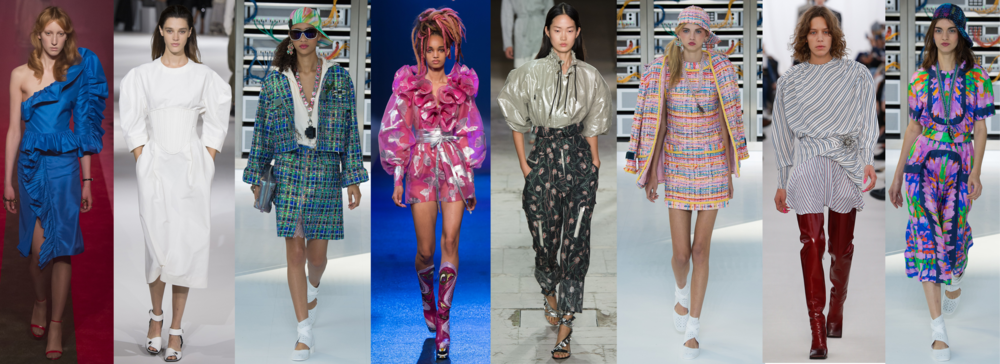 Left to Right: Gucci RTW SS17, Stella McCartney RTW SS17, Chanel RTW SS17, Marc Jacobs RTW SS17, Isabel Marant RTW SS17, Chanel RTW SS17, Balenciaga RTW SS17, Chanel RTW SS17