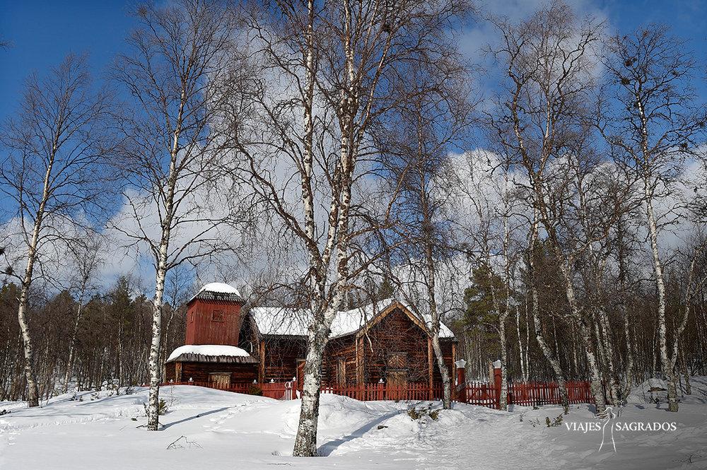 Paisaje nieve Laponia