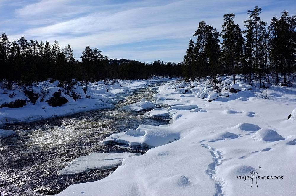 Laponia y auroras boreales