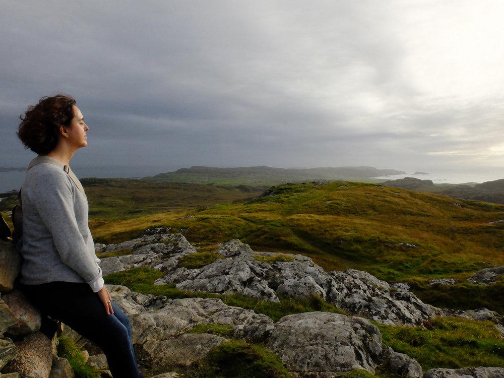 Patricia Domingo guía Escocia Isla Sagrada Iona