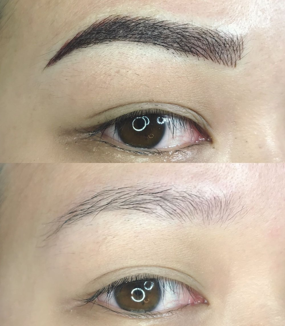 Semi Permanent Eyebrow Tattoos La Belle Peau