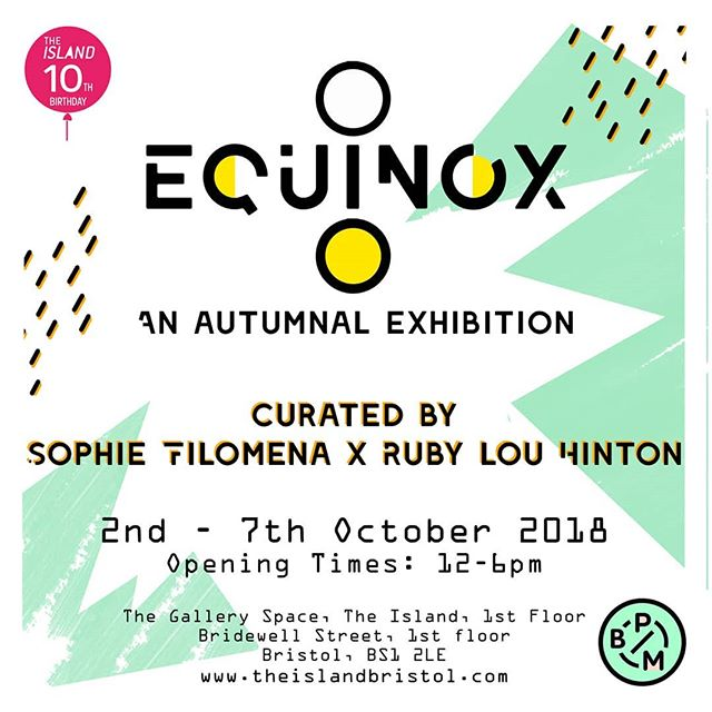 I've been away on my holibobs, but I'm back with a bang! I have a brand new piece, autumn/turning 30 themed, in this wonderful exhibition, come check it out! #exhibition #artist #gallery #equinox #autumn #bristolartist