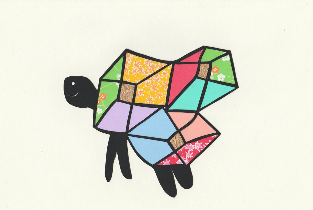 """Cube Turtle"" 2018. Based on a child's original sketch."