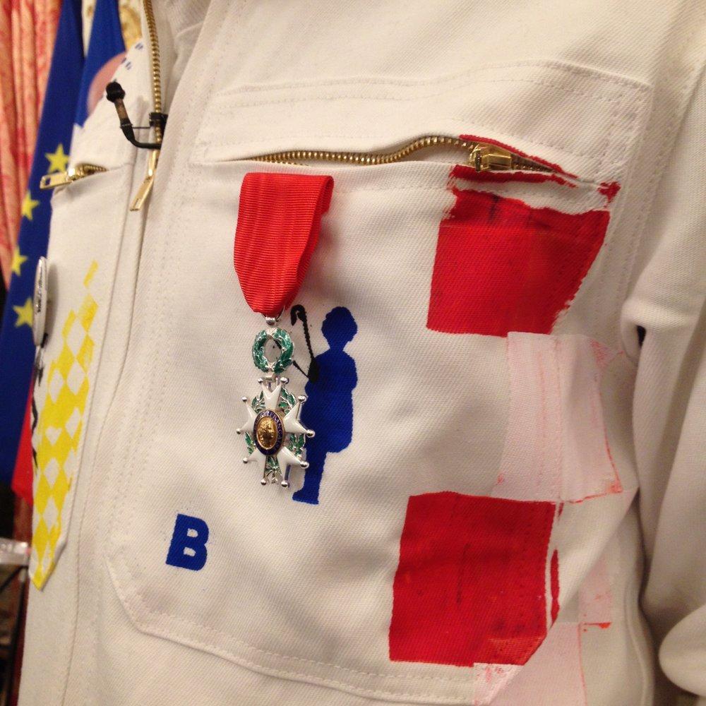 JonOne suit to receive Legion d Honneur Paris