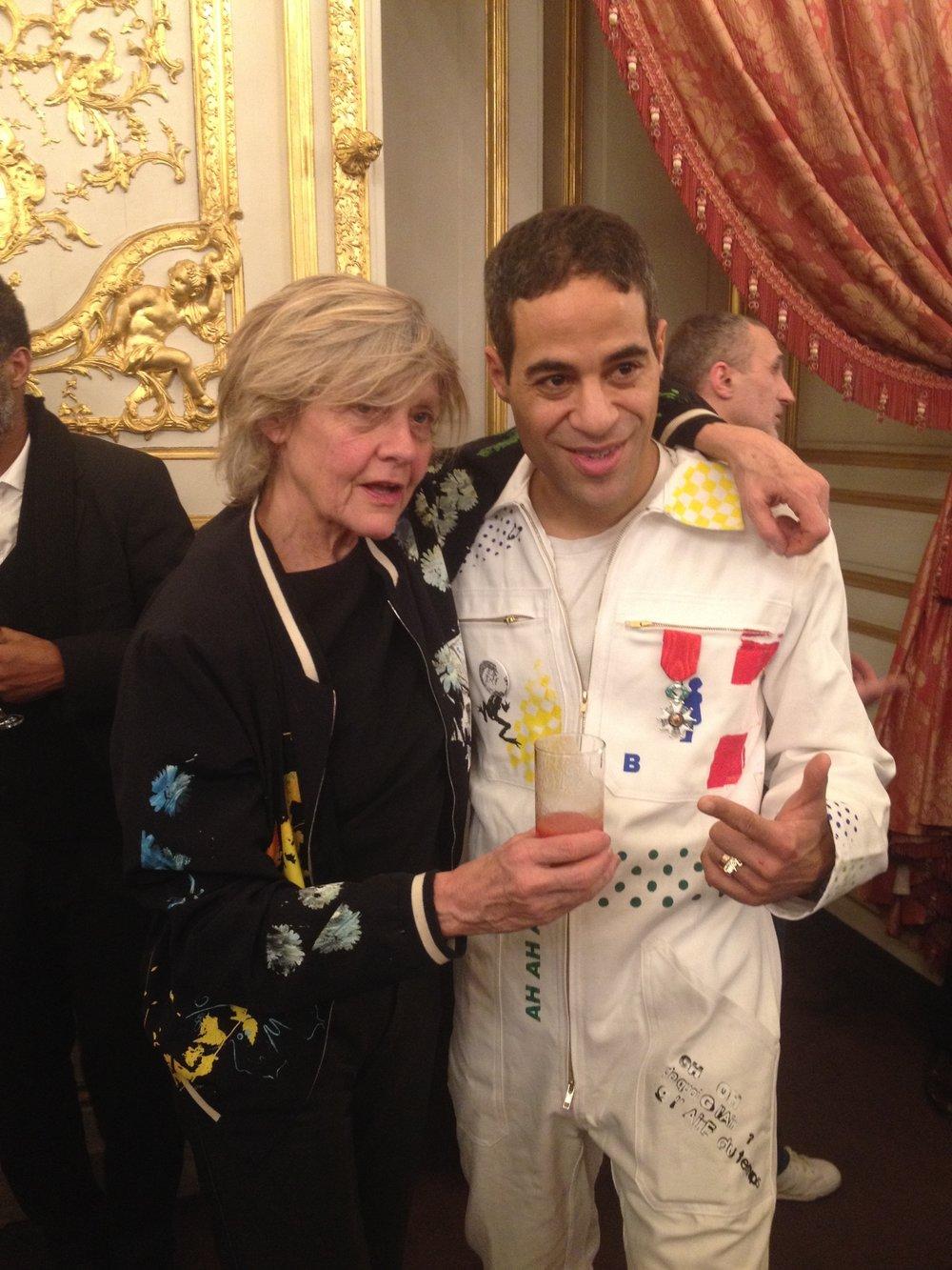 combinaison sérigraphiée pour la remise de la Légion d honneur de Jonone