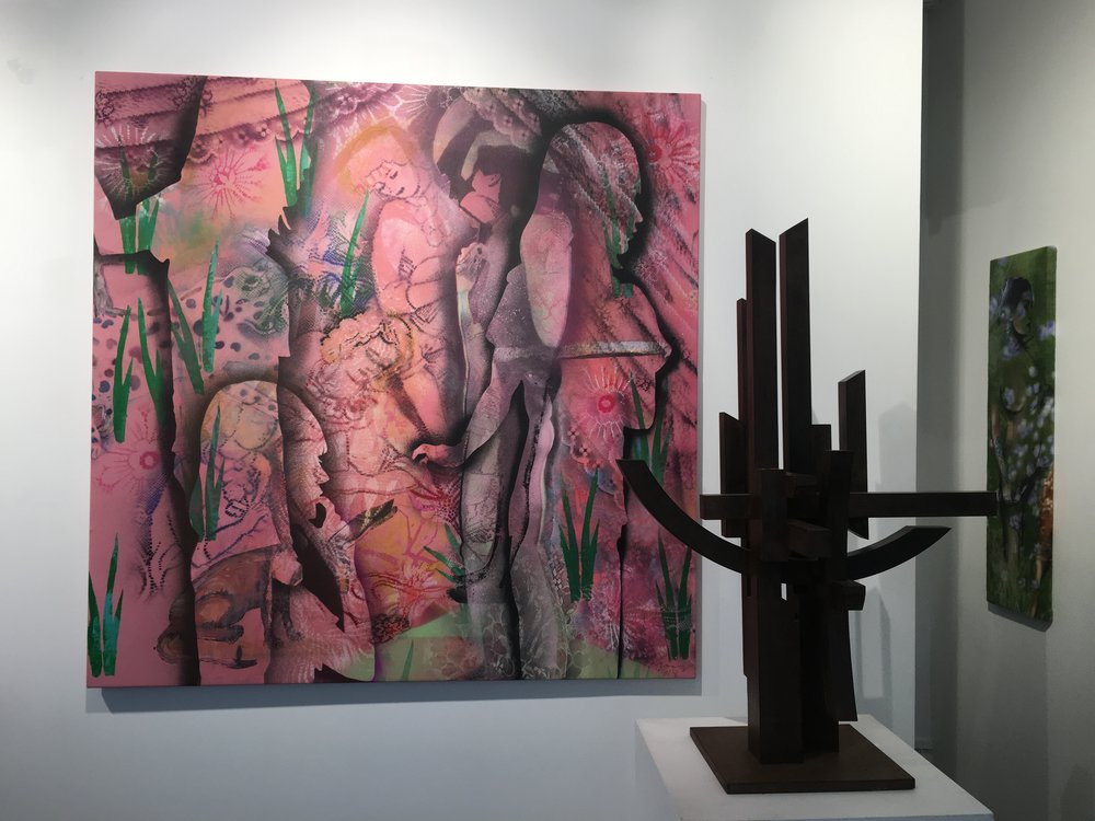 Questions about 2018 galerie Mark Hachem group show 03/2019