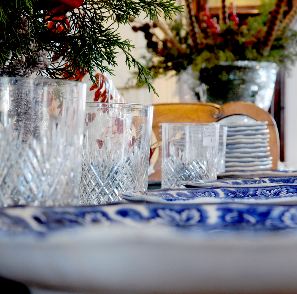 The host with the most - The ultimate host delights in the details. Estate-worthy glassware, 20% off at Grand & Water Antiques, 135 Water Street.