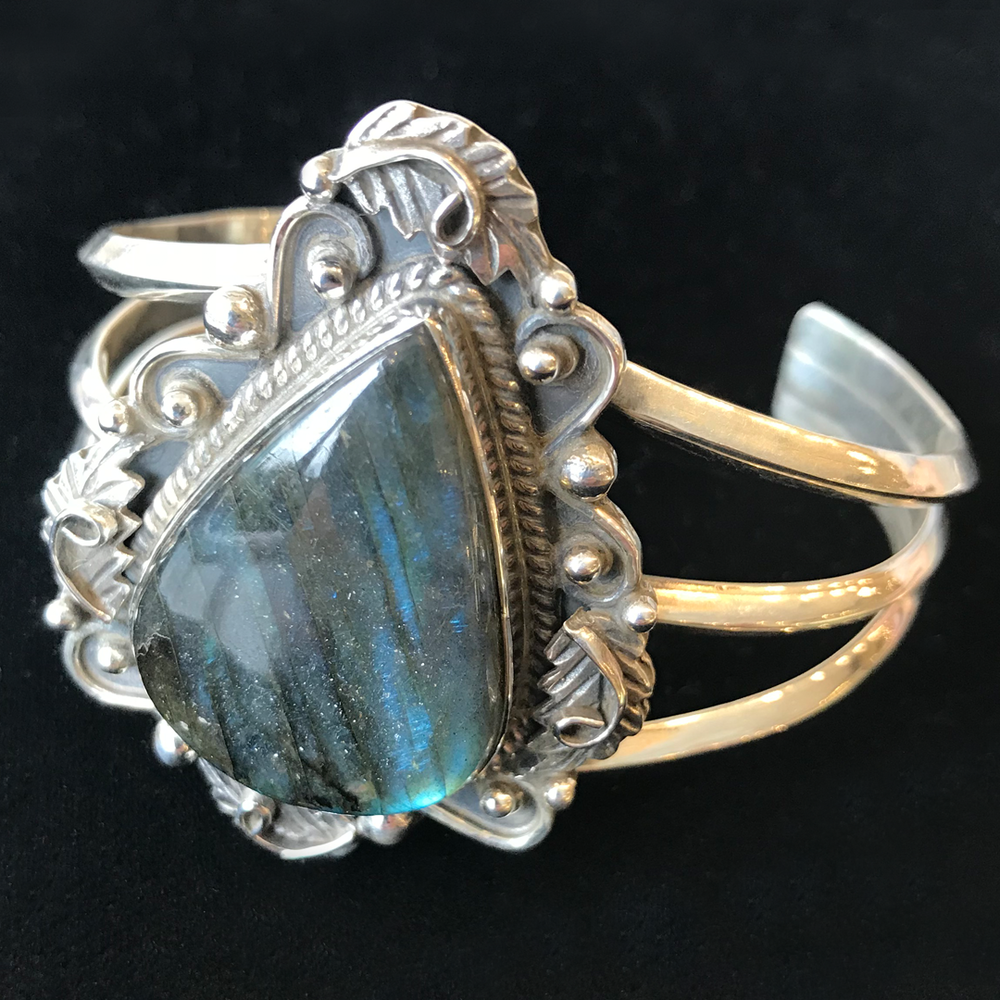Jingle jangle, now this is a bangle - A.K. Dasher Jewelry has an enormous selection of sterling silver and gemstone jewelry, but this bangle bracelet with a labradorite stone is a real showstopper. $98.50. 141 Water Street.