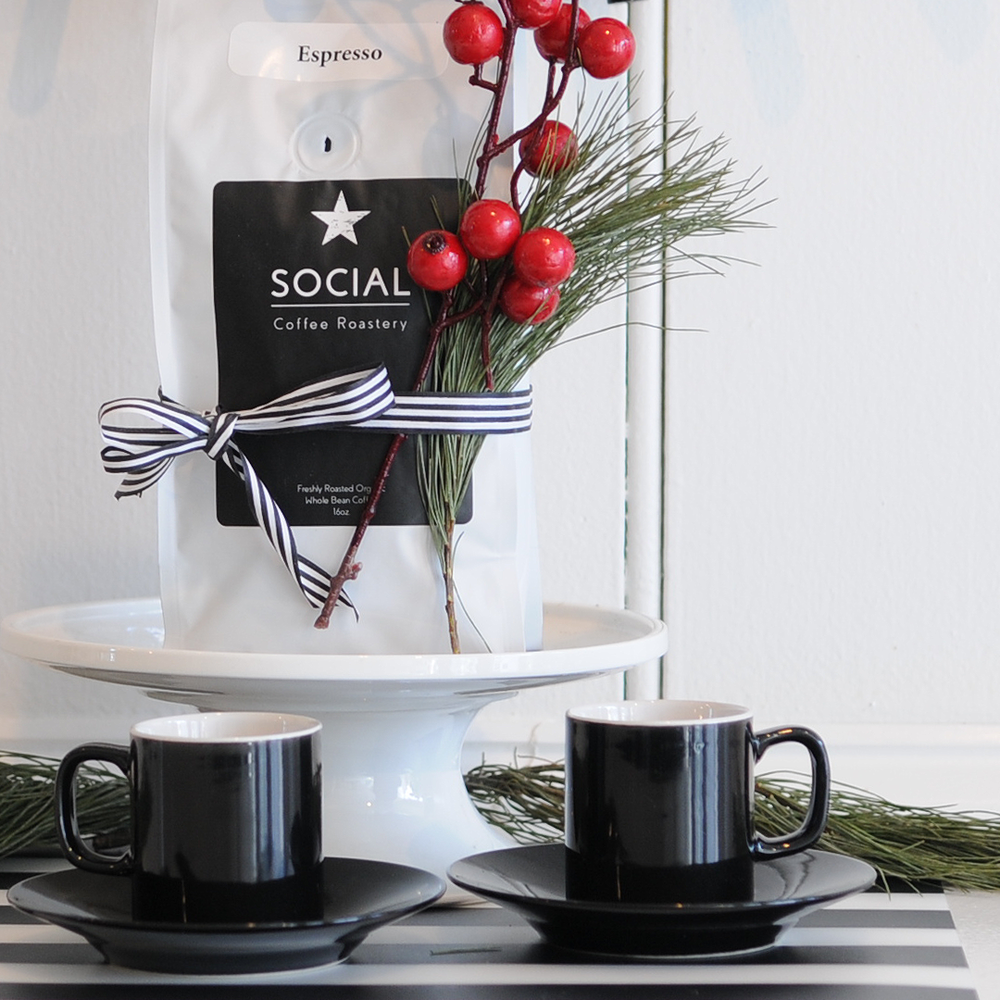 What every coffee lover wants - REALLY GOOD COFFEE of course. Social Coffee Roastery has your gift waiting for you: a bag of espresso and two espresso cups. $25. There are also gift cards available. 117 Water Street.