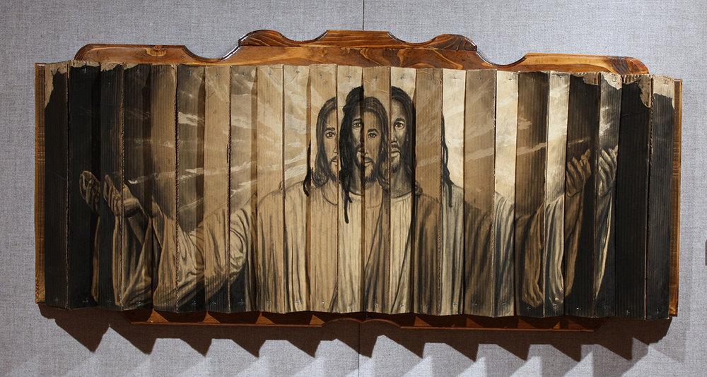 Cardboard Jesus Hologram