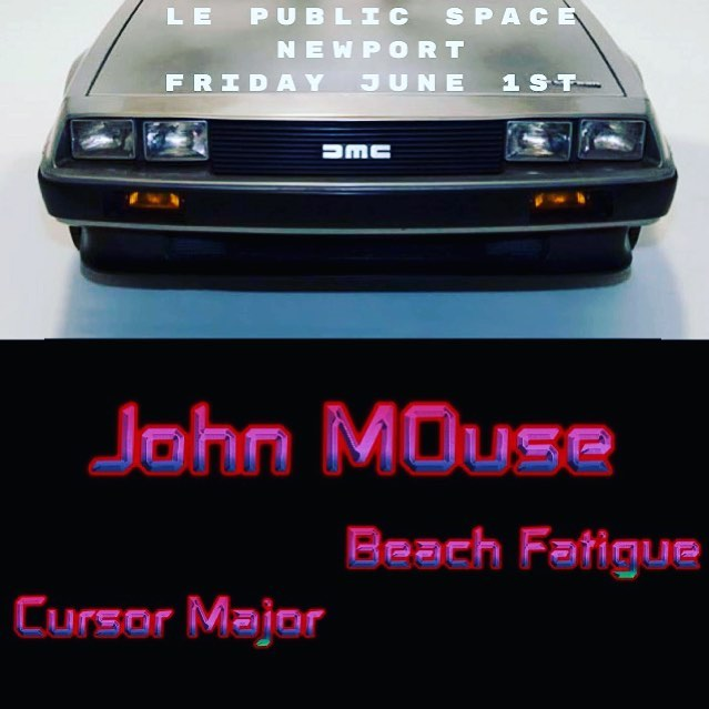 Showtime Friday June 1st with @johnmousemusic & @beachfatigue at Le Public Space Newport