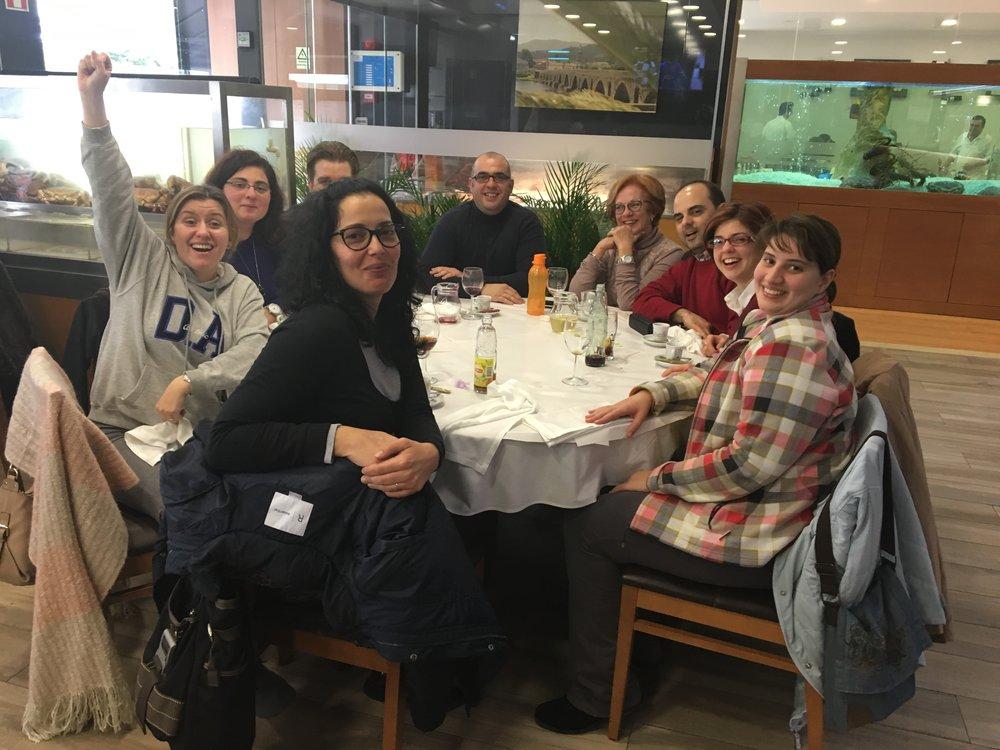 """Depois do atelier, o almoço no restaurante """"Zé Carteiro"""" na Póvoa de Santa Iria."""