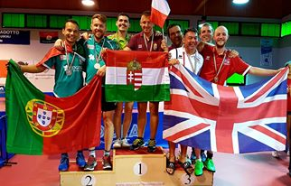 Conquista do 2º lugar ténis de mesa pares e maratona no Europeu para Transplantados e Dialisados