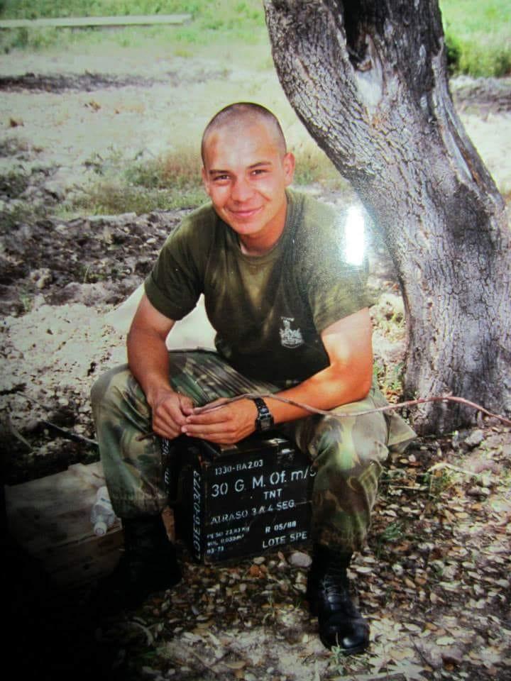 Ricardo Cunha enquanto militar