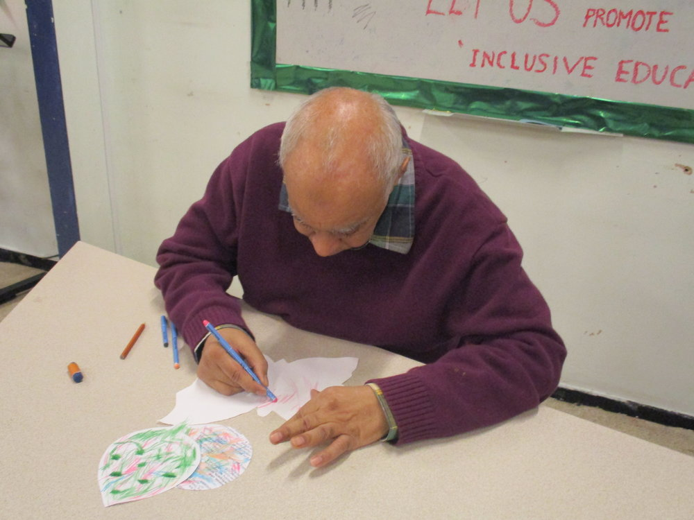 Service User doing drawing