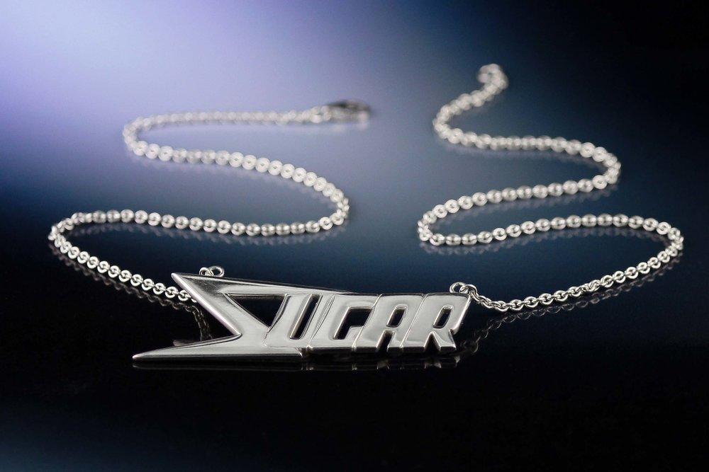 Custom roller derby name necklace