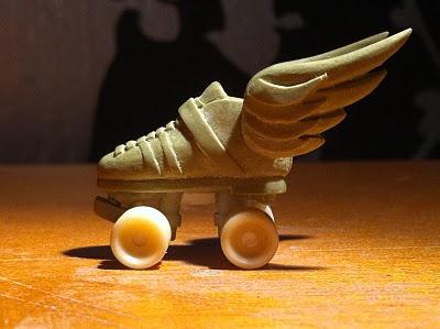Tiny Riedell derby skate miliput sculpt