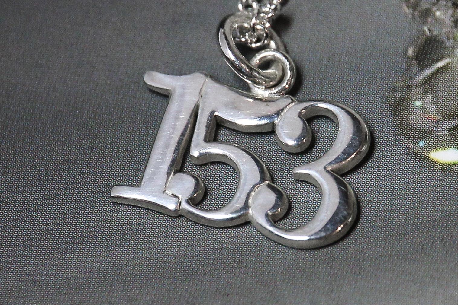 Custom silver skate number 153